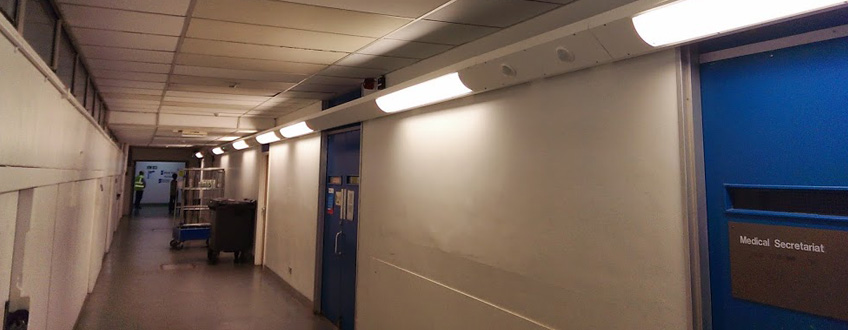 Hospital Corridor Lighting Design: Hillingdon Hospital Corridor Lighting
